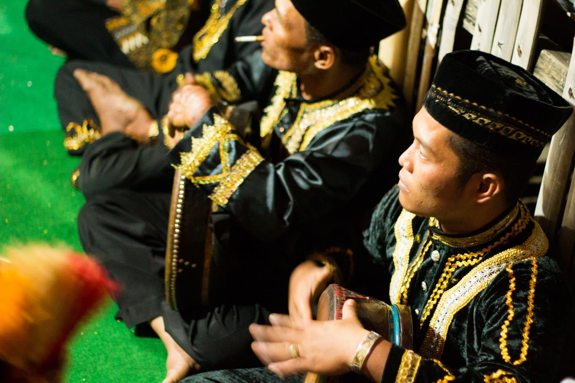 Traditional Drums and dress at a Kenduri Sko Festival, Koto Renah, Kerinci, Jambi