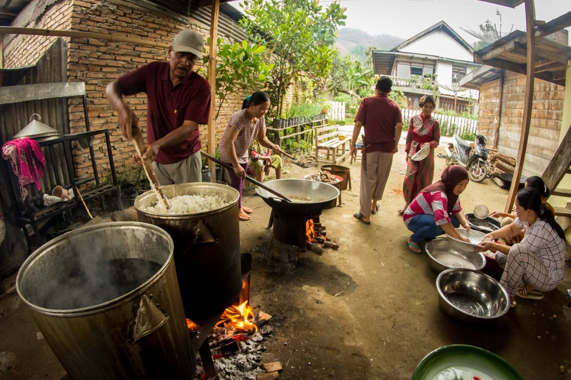 Preparing Food for a Syukran, Kerinci, Jambi, Sumatra, Indonesia