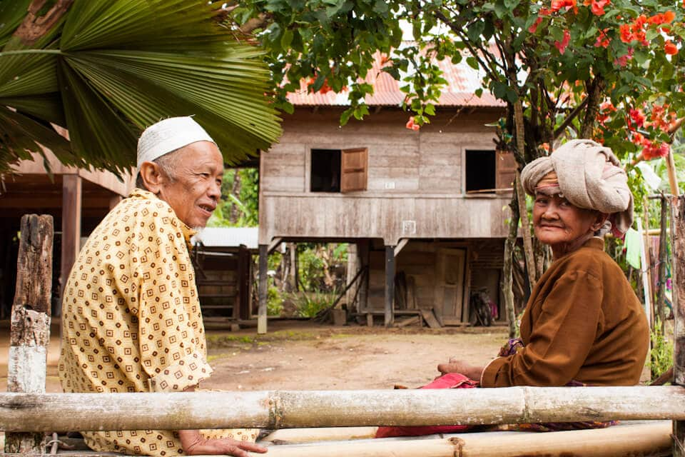 Old villagers in Renah Kemumu, Merangin, Jambi, Sumatra, Indonesia