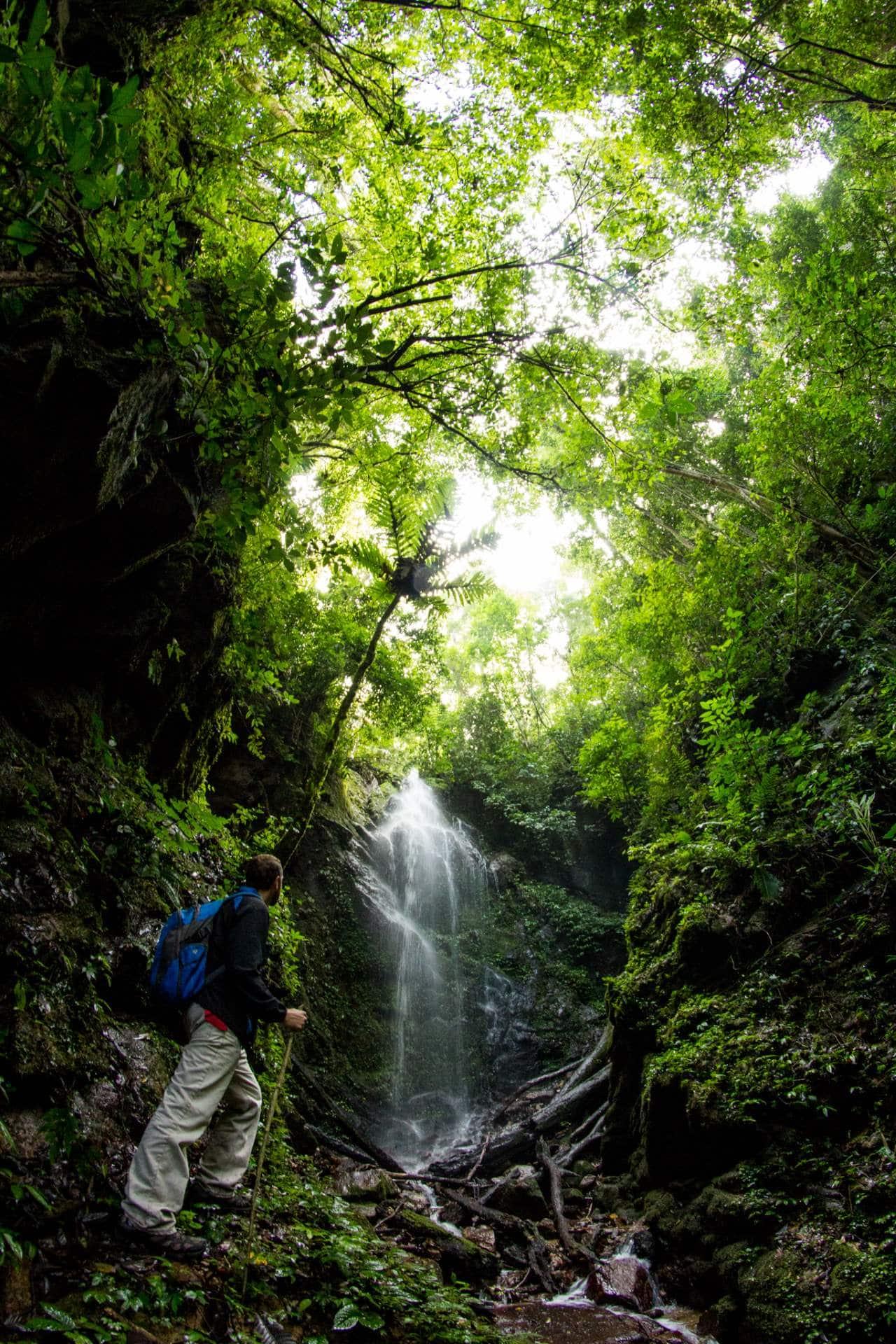 Kerinci waterfall in sumatra jungle trekking sumatra indonesia ecotourism